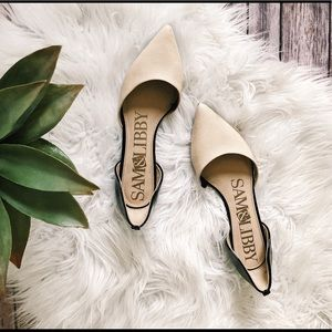 SAM & LIBBY D'orsay Two-toned Flats